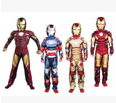 The avengers Iron man costume with stretchy party clothes Cosplay Custom With Mask For Pick