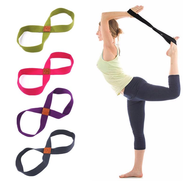 ★  Женщины Yoga Stretch Strap Ремень 8-образный Yoga Pull Up Belt Веревка Запястье Талия Тренировка Ног ✔
