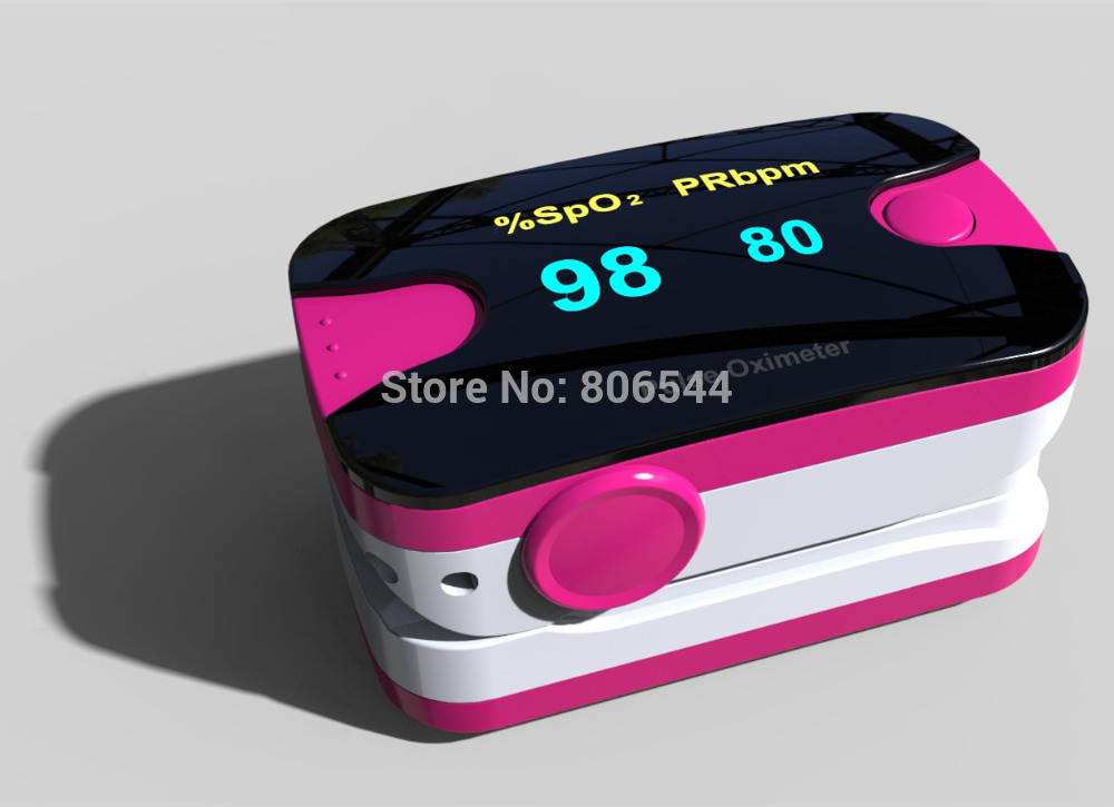 Oximetro De Dedo FDA Health Monitors Pink OLED Display Finger Pulse Oximeter Blood Oxygen SpO2 Saturation Oximetro Home Care CS