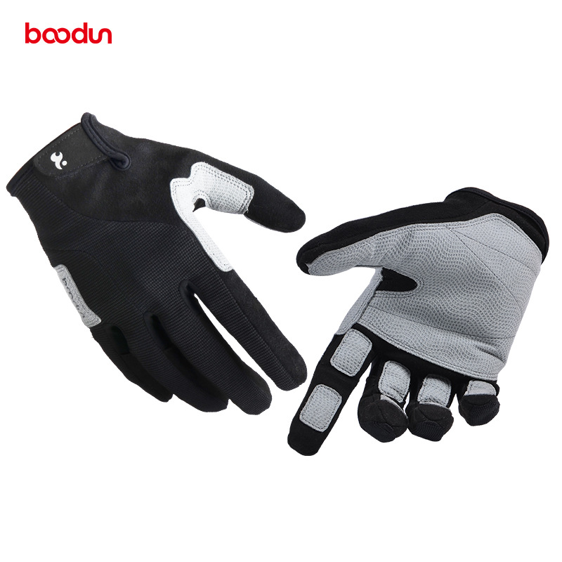 BOODUN Full Finger Hiking Gloves For Men And Women Breathable Wear-resistant Tactical Gloves Outdoor Sports Rock Climbing Glove