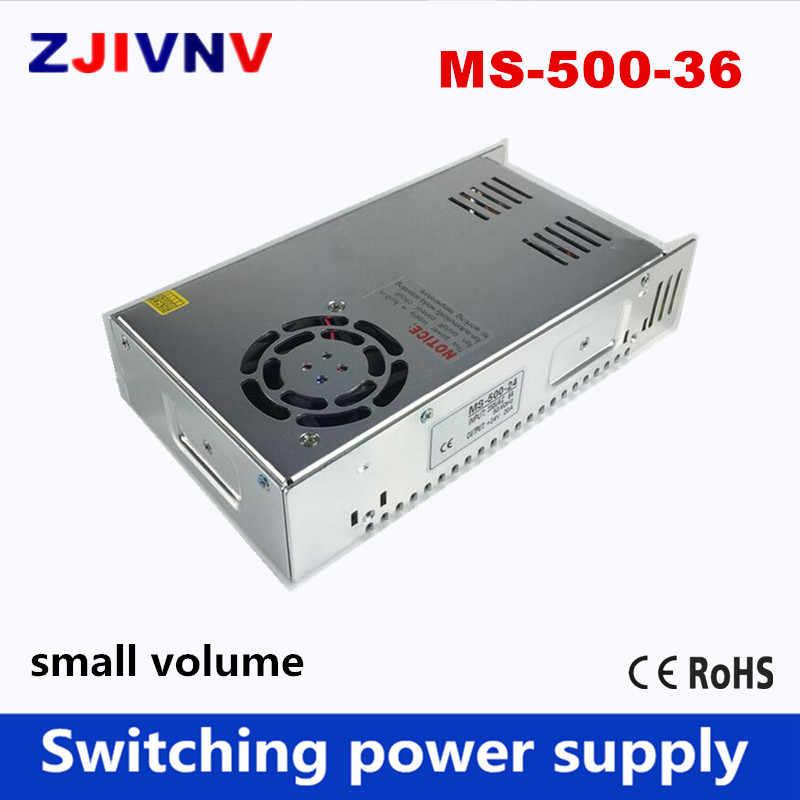 小さなサイズ500ワットスイッチング電源出力36ボルト13.3A led smps入力110/220ボルトac-dcトランスフォンテsmpsでファンMS-500-36