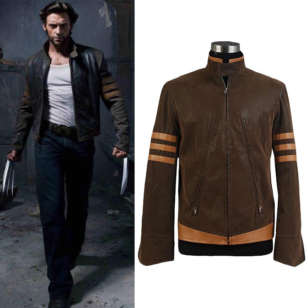X-Men Hugh Jackman Jacket Uniform Cosplay Costume Pleather Jacket Hand Made
