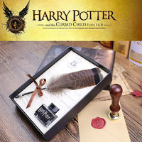 High Quality Harry Potter Feather Quill Calligraphy Pen Set Writing Ink Dip Pen With HP Sealing