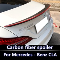 For Mercedes CLA W117 Carbon Spoiler FD Style Carbon Fiber Rear Wing Spoiler with red line CLA spoiler CLA200 CLA220 CLA260 AMG