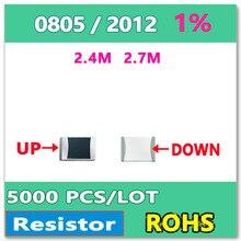 ОМ 0805 F 1% 5000 шт. 2.4 М 2.7 М smd 2012 резистор