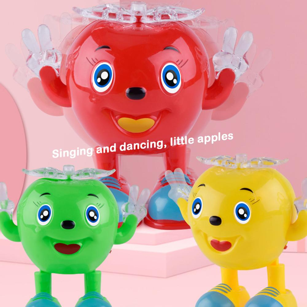 Electric Dancing Apple Battery Operated Baby Vocal Toys With Lighting Swing Toy Electric Universal Musical Baby Kids Gift