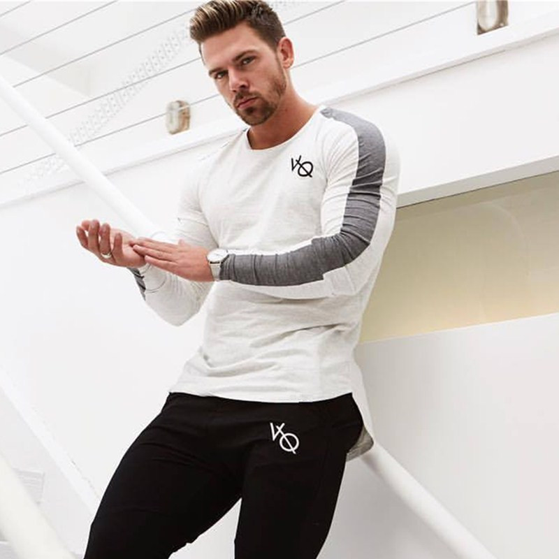New Vanquish Health Spring males lengthy sleeved cotton vq t shirt raglan sleeve gyms exercise clothes male Informal tees tops T-Shirts, Low-cost T-Shirts, New Vanquish Health Spring males lengthy...