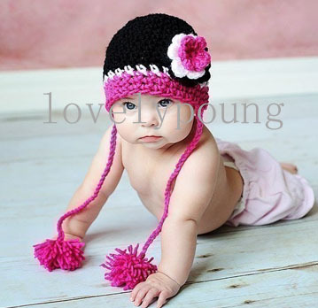 Baby strickmütze babymütze mädchen häkelarbeithut aus milch guter ...