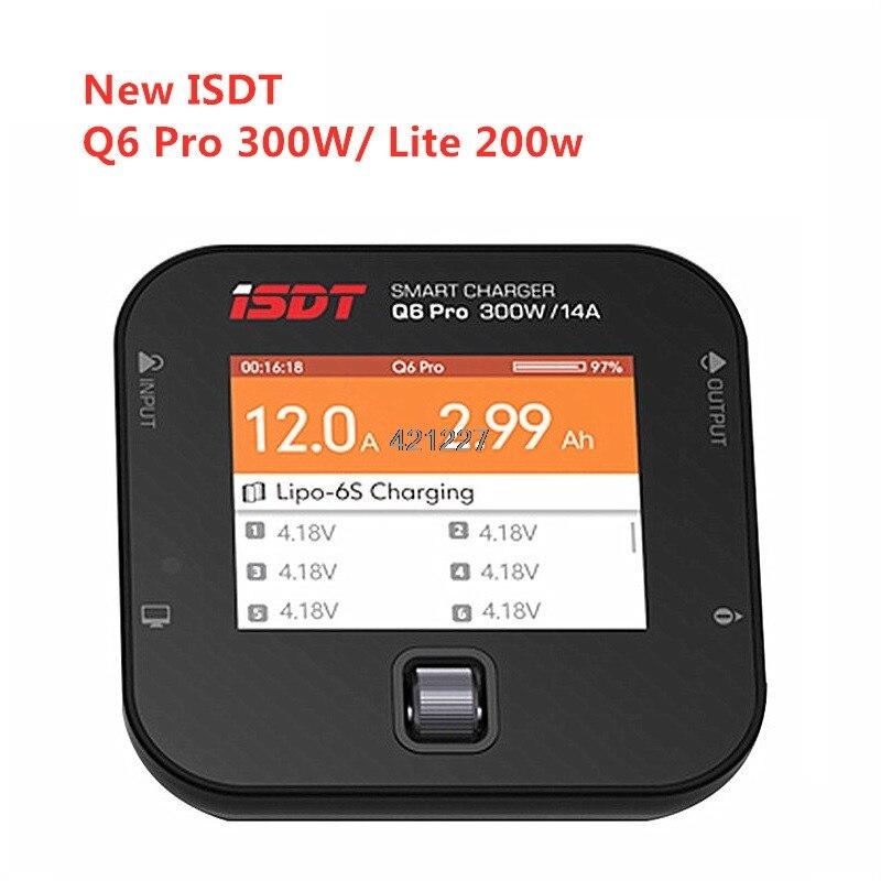 Nouveau ISDT Q6 Pro BattGo 300 w/Q6 Lite 200 W 12A poche chargeur numérique intelligent Lipo chargeur d'équilibre de batterie pour RC modèles 119g