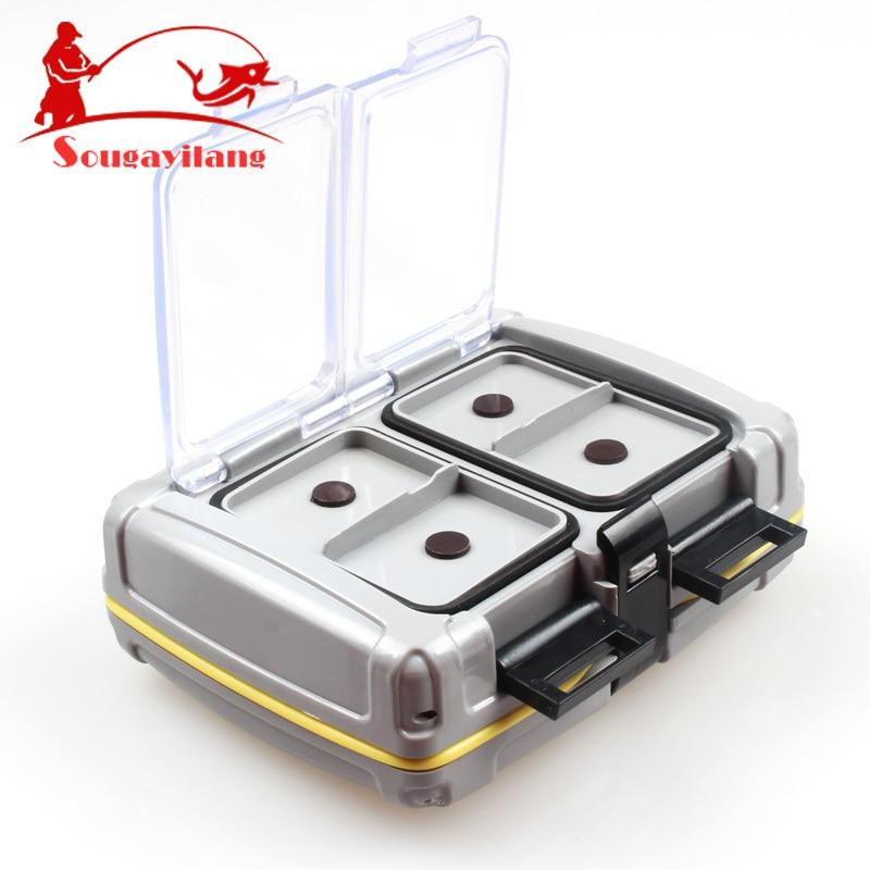 Sougayilang bilaterale casella di pesca 139g abs plastica fishing tackle box 10*8.5*3.5 centimetri lure box per carp fishing accessori strumenti