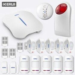 KERUI W1 Intelligente Braccio di Casa Senza Fili WiFi PSTN Sistema di Allarme APP Remote di Controllo Anti-furto di Allarme SOS PIR Campanello sistema di allarme