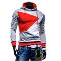 2016 outono inverno moda homens Moletom patchwork hoodies men hip hop bordado homens hombre homme terno sportswear agasalho fino