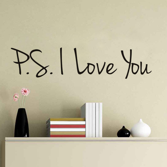 i love you quotes wall decals romantic creative art removable pvc