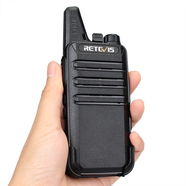 4 pcs Retevis RT22 Mini Walkie Talkie Radio 2W UHF VOX USB Charge Rechargeable Two Way Radio Station Walkie-Talkie Transceiver