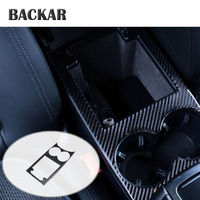 BACKAR Auto Car Water Drink Cup Holder Panel Glass Frame Interior Decoration Accessories For Porsche Macan 2015 2016 2017 2018