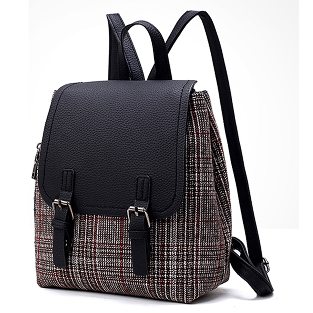 Retro Women Backpack Lady soft PU Leather new fashion Korean style wild personality student Fashion bag
