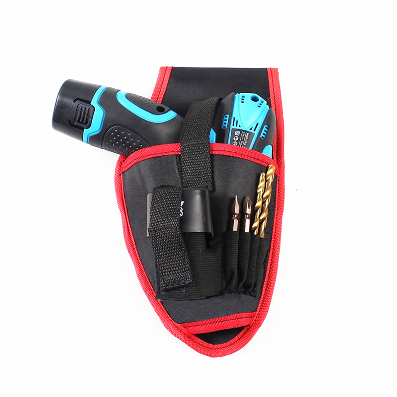 free shipping cloth tool bag 12v cordless drill waist hanging pocket multifunction tool bag electrician hardware repair kit