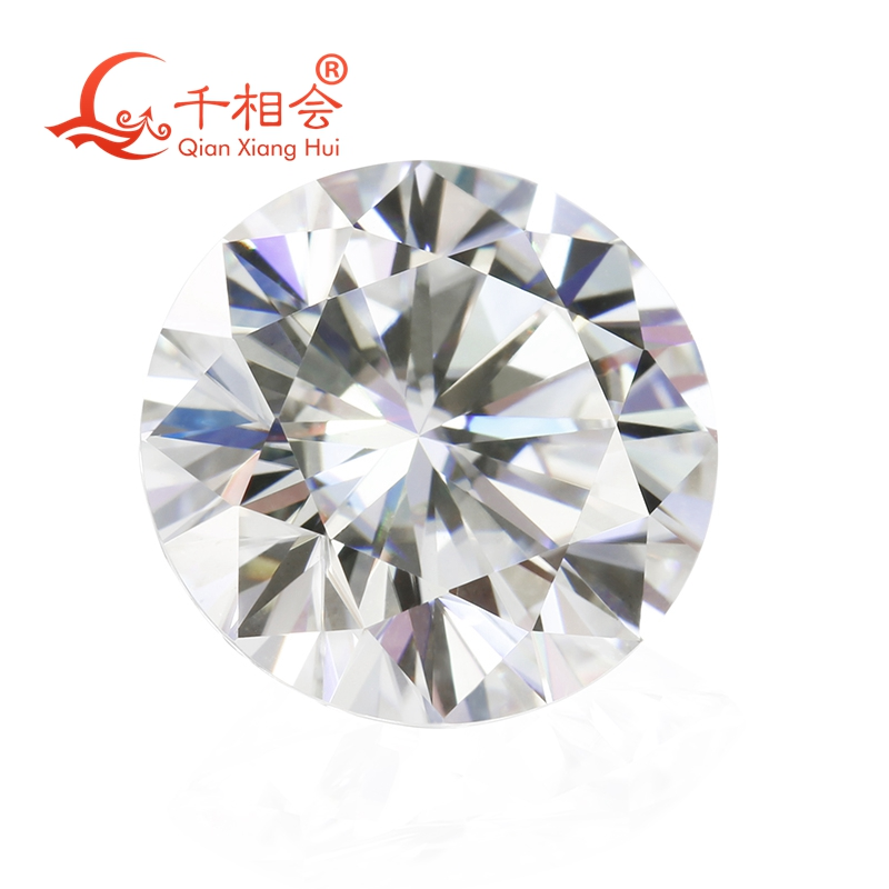 6.5mm DF  color white Round Brilliant cut moissanites loose stone with  certificate 2