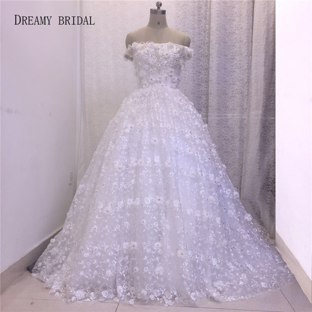 Dreamy Bridal Lace Off the Shoulder Luxury Sequined Robe De Mariage ...