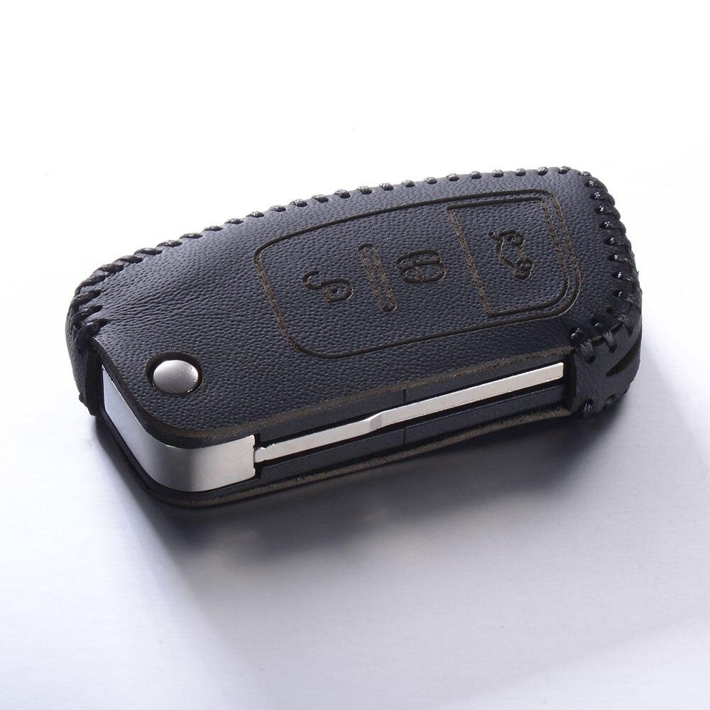 Genuine Leather Key Cover for Ford Focus 2 3 4 MK2 MK3 MK4 Kuga Edge Mondeo  Escape Escort Ecosport Fiesta Keychain Case