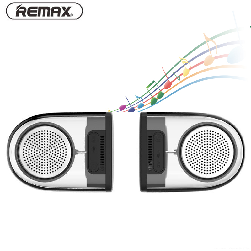 REMAX 4.2 Bluetooth Magnetic Pair Speakers Portable Wireless Stereo bluetooth-speaker AUX MP3 Player Mini Speaker for PC Phone tronsmart element t6 mini bluetooth speaker portable wireless speaker with 360 degree stereo sound for ios android xiaomi player