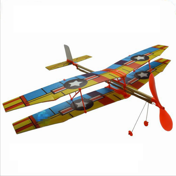 Tensible motor Airplane Inertial Foam Glider Aircraft Toy PBiplane Model Outdoor Toy Educational Toys image