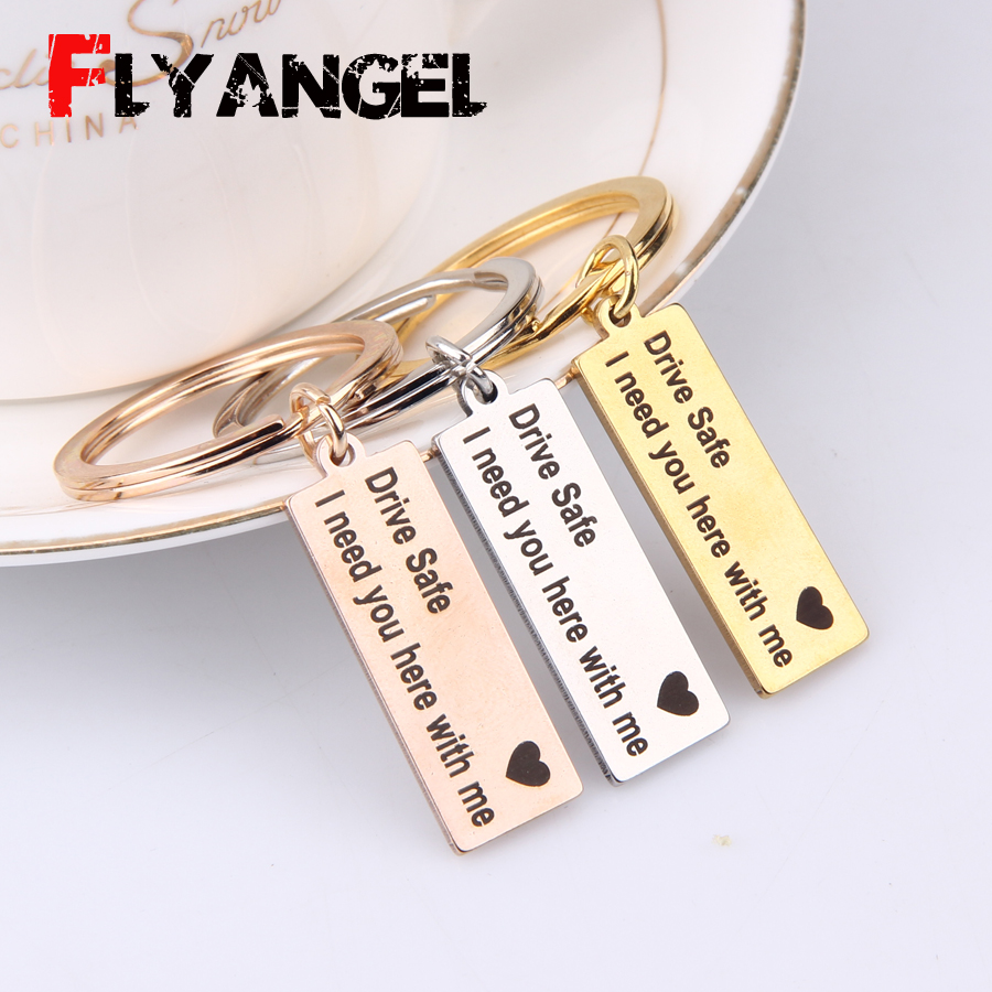 """Stainless Steel  /""""To /"""" Creative  Couple  Keyring Gift HOT"""