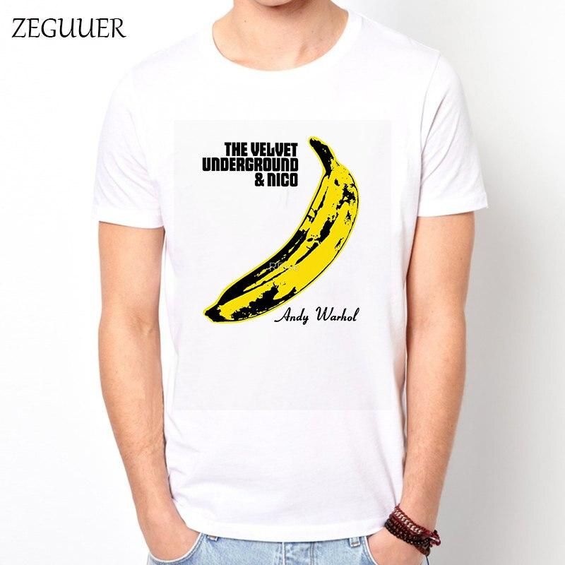 Femme FataleThe Velvet Underground Tshirt Harajuku T Shirt Men Streetwear Funny T Shirts Wind Cotton Round Neck Casual Clothes