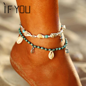IF YOU Pendant Anklet For Women Girl Chain Foot Jewelry