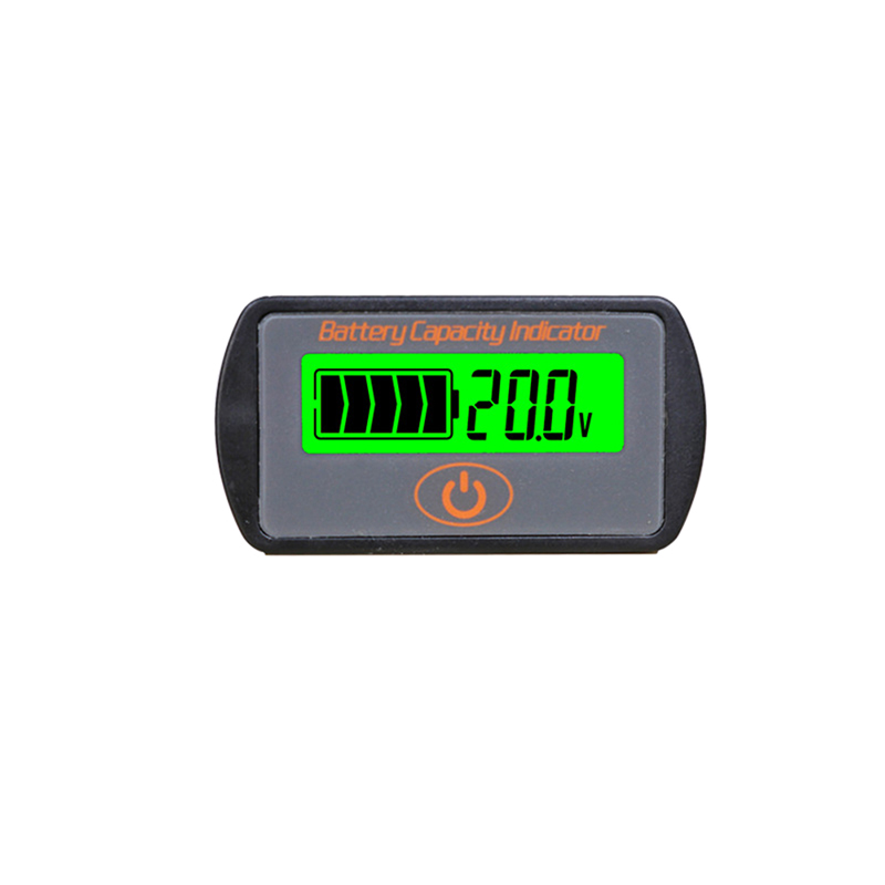 2018 12V-48V Lead-acid Lithium Touch LCD Voltmeter Battery Capacity Indicator Voltage Tester Meter Monitor Analyzer 1 2v to 12v li ion lithium battery capacity tester resistance lead acid battery capacity meter protection voltage ammeter yx