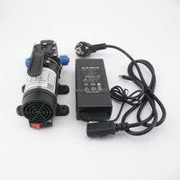 100W 8L/min portable electric small diaphragm pump 12v 24v home mini dc 12v water pump self priming high pressure water pump