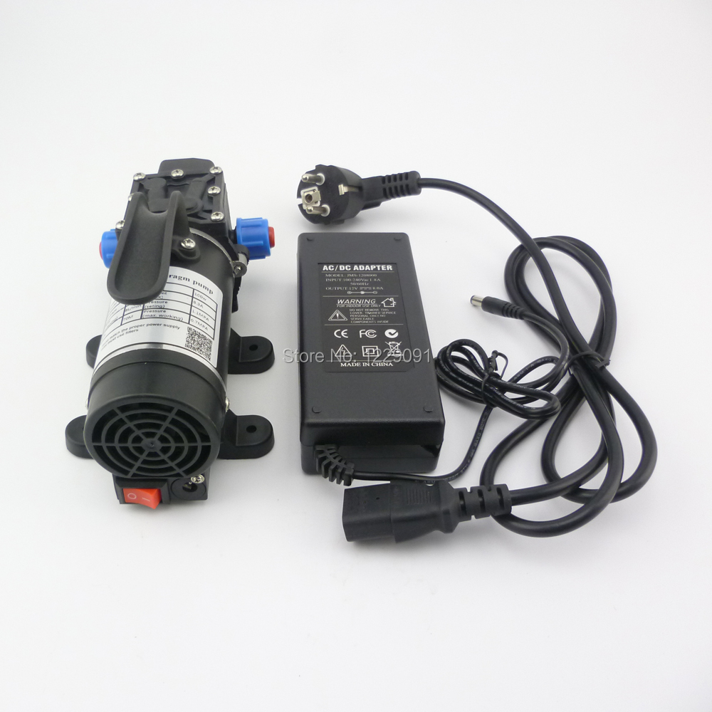 100W 8L/min portable electric small diaphragm pump 12v 24v home mini dc 12v water pump self priming high pressure water pump