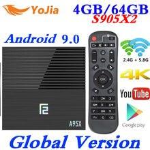 4 ГБ ОЗУ 64 Гб ПЗУ 6 K Smart tv BOX Android 9,0 T95 MAX Allwinner H6 четырехъядерный 2,4G Wi-Fi YouTube 16G/32G T95MAX PK TX6 телеприставка