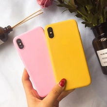 Soft TPU Phone Case for IPhone X Xr Xs MAX 7 8 6 Plus for Apple Case 6s 5 5S SE Simple Candy Color Protective Back Cover Coque enkay protective tpu back case w stand for iphone 6 plus 5 5 pink