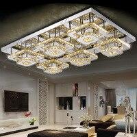 modern led Crystal Ceiling lights 2 4 6 head lampen kristal living dining room bedroom lamp deckenleuchten de cristal lighting