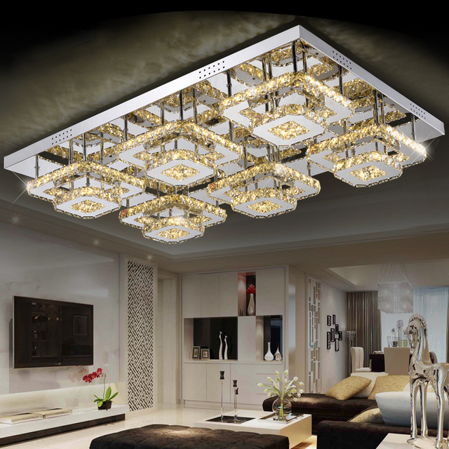 Modern Led Crystal Ceiling Lights 2 4 6 Head Lampen Kristal Living Dining Room Bedroom Lamp