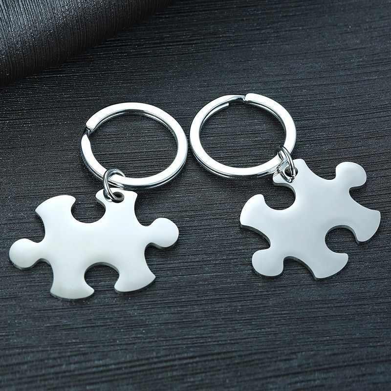 Acessórios personalizados de aço inoxidável do anel chave do aniversário dos amantes dos casais dos homens