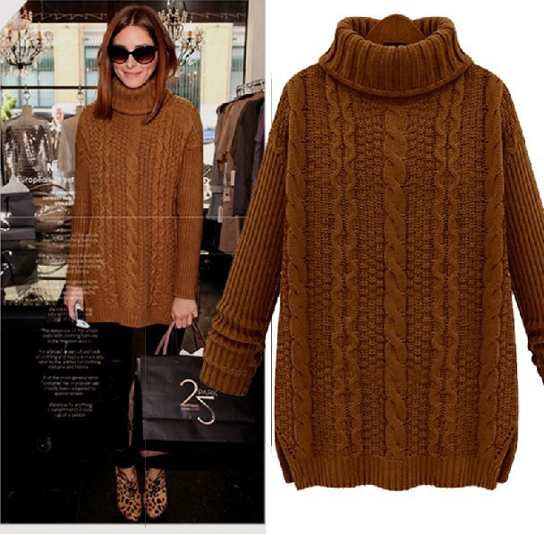 Winter European Style Plus Size Pullover Cashmere Sweater Loose ...