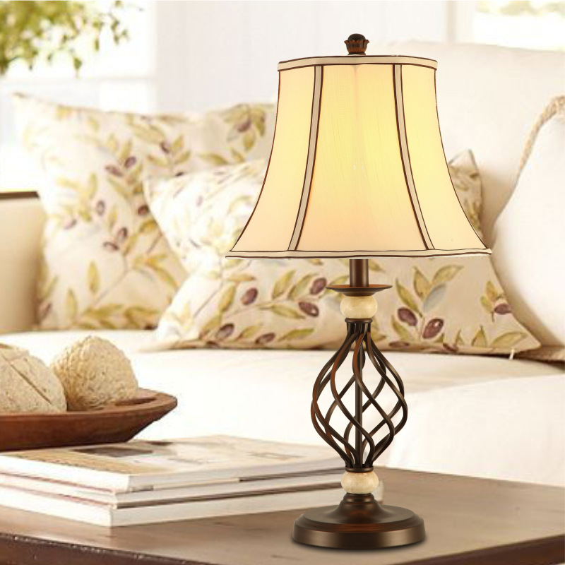 TUDA 34x64cm Free Shipping Retro American Country Style Table Lamp Home Decorative LED Table Lamp For  Living Room Bedroom E27TUDA 34x64cm Free Shipping Retro American Country Style Table Lamp Home Decorative LED Table Lamp For  Living Room Bedroom E27