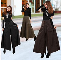 Spring and Autumn new large size wide leg pants female Slim fashion wide pants legs casual trousers street hip hop models