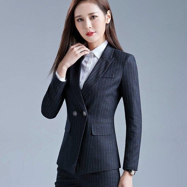 1 pcs revestimento das Mulheres blazers 2017 Primavera Cotton blended mangas compridas stripe Jaquetas pequenas Terno senhoras Magros blazers Casacos meninas