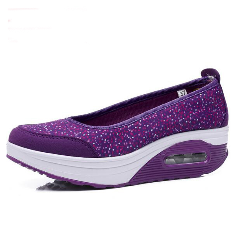 Women running shoes Air slimming platform fitness sneakers ...