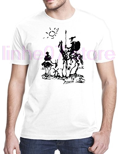 Quijote Divertido Verano Camiseta Hombres De Streetwear Moda Corta Don Camisetas Picasso Manga 2019 EW2ID9H