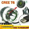 Led Headlight CREE XM-L T6 Headlamp Bike Light Bicycle Headlight LED Light Flashlight 2200LM USB-battery not included