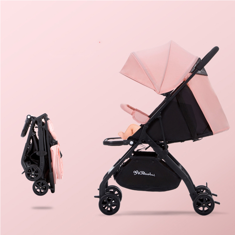 Lightweight baby stroller 2 in 1 aluminum alloy can sit can sleep folding carriages for newborns children baby pram 0-3 year old все цены