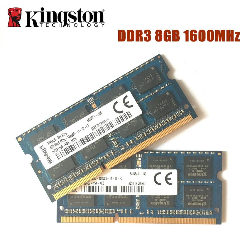 Memória ram kingston, ddr3 ddr3l 2g 4g 8g 12800s laptop ddr 1600 mhz memoria bastão de dram para notebook original 1.35v