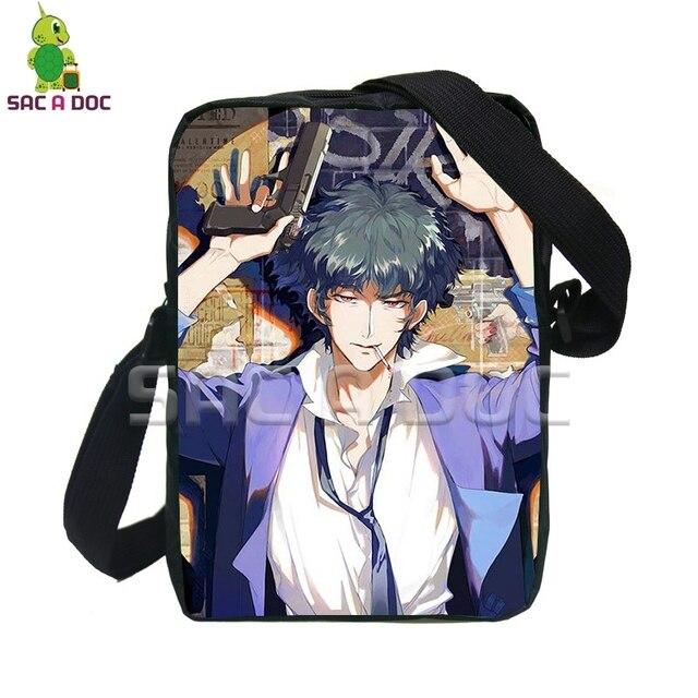 8d6cc6c3c73e Anime Cowboy Bebop Spike Messenger Bags Women Men Small Handbags Shoulder  Bag for Teenagers Kids Crossbody School Bags