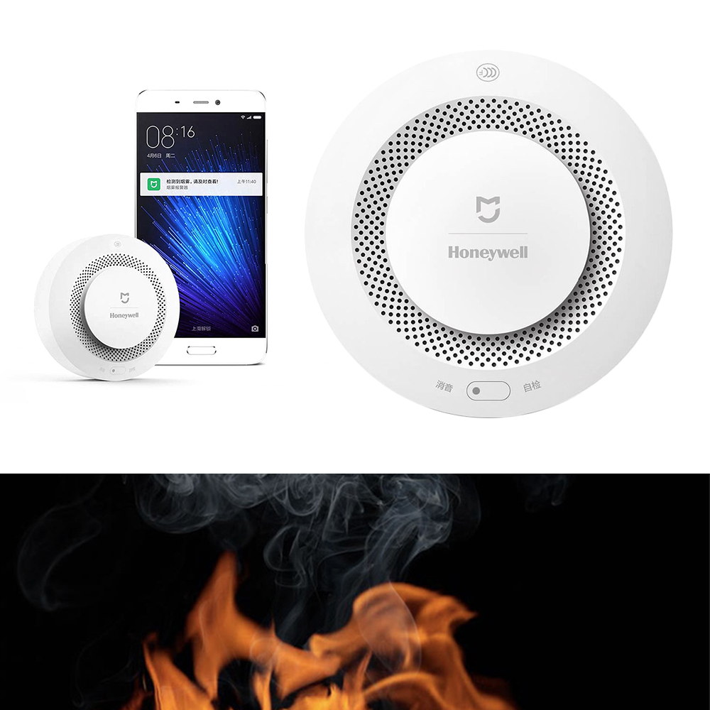 Original Aqara Mijia Smoke Detector Honeywell Fire Alarm Smart Home Smoke Sensor security Smart Remote Control via APP phone