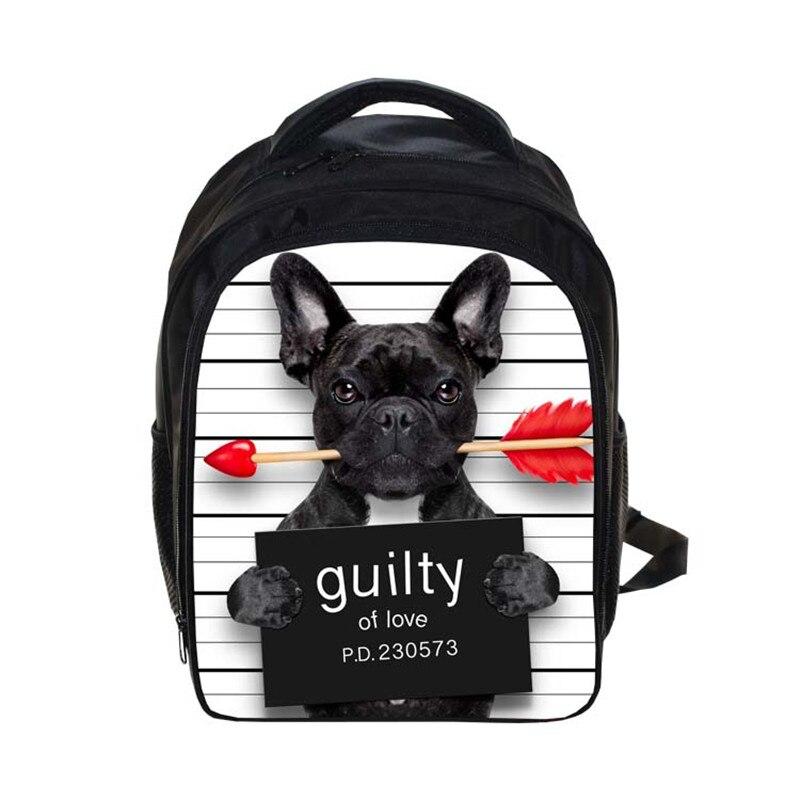 Bad Dog Backpack Small Children School Bags Cartoon Guilty Pet Kids Kindergarten Bag Backpack For Teenager Girls cartable enfant