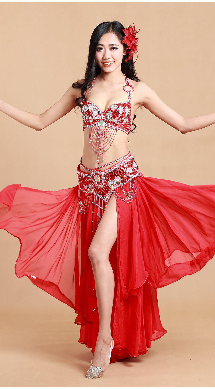 2017 Belly Dance Costumes  Dance Performance Costumes  Belly Dance Clothes For Women Sequin Macrame Belly dancing waist seal